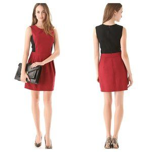 Theory Darua Tailor Dress Flame Red